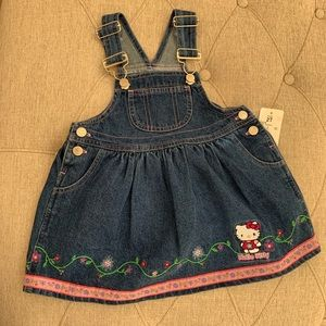 ✅ Sanrio Hello Kitty Overall Dress 2T